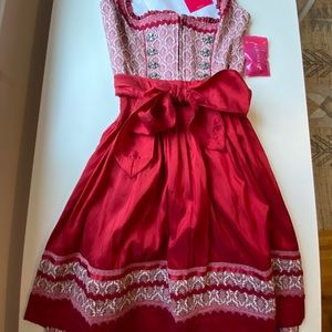 NEW with tags, authentic German Dirndl with apron.